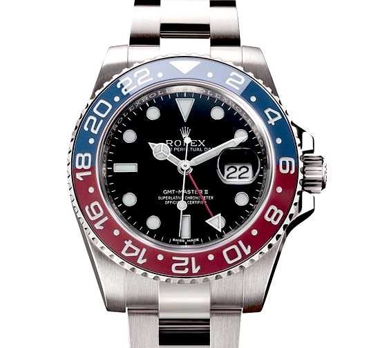 Rolex GMT White Gold Ceramic Blue Red (Pepsi) Bezel 2014